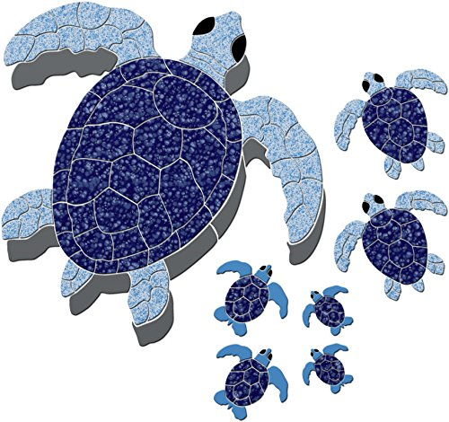 Turtle Group Ceramic Swimming Pool Mosaic (Blue) for $<!--$489.00-->