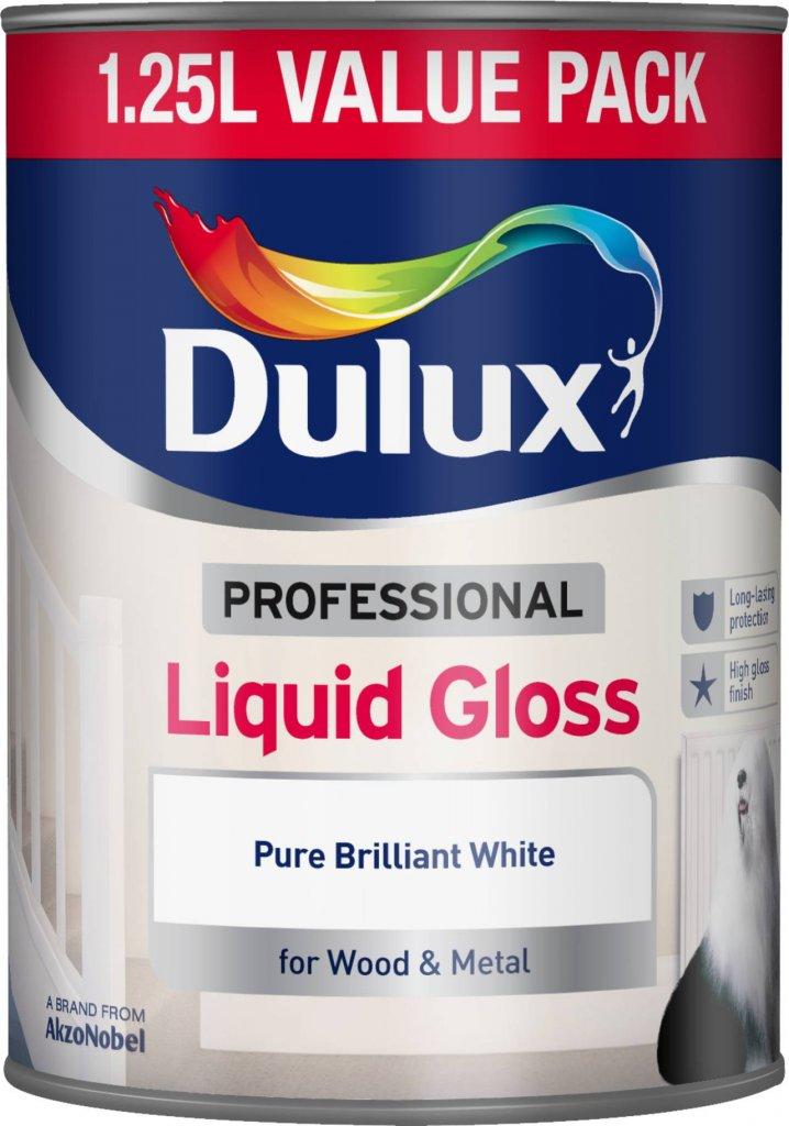 Dulux Professional Liquid Gloss 1.25L Pure Brilliant White (670300)
