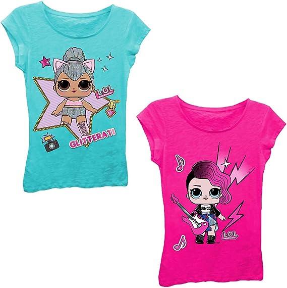 L.O.L. ¡Sorpresa! Conjunto de Camiseta para niñas – 2 Paquetes de Playeras Sorpresa LOL – Lil Outrageous Littles Playeras - Azul - L - 6X: Amazon.es: Ropa y accesorios