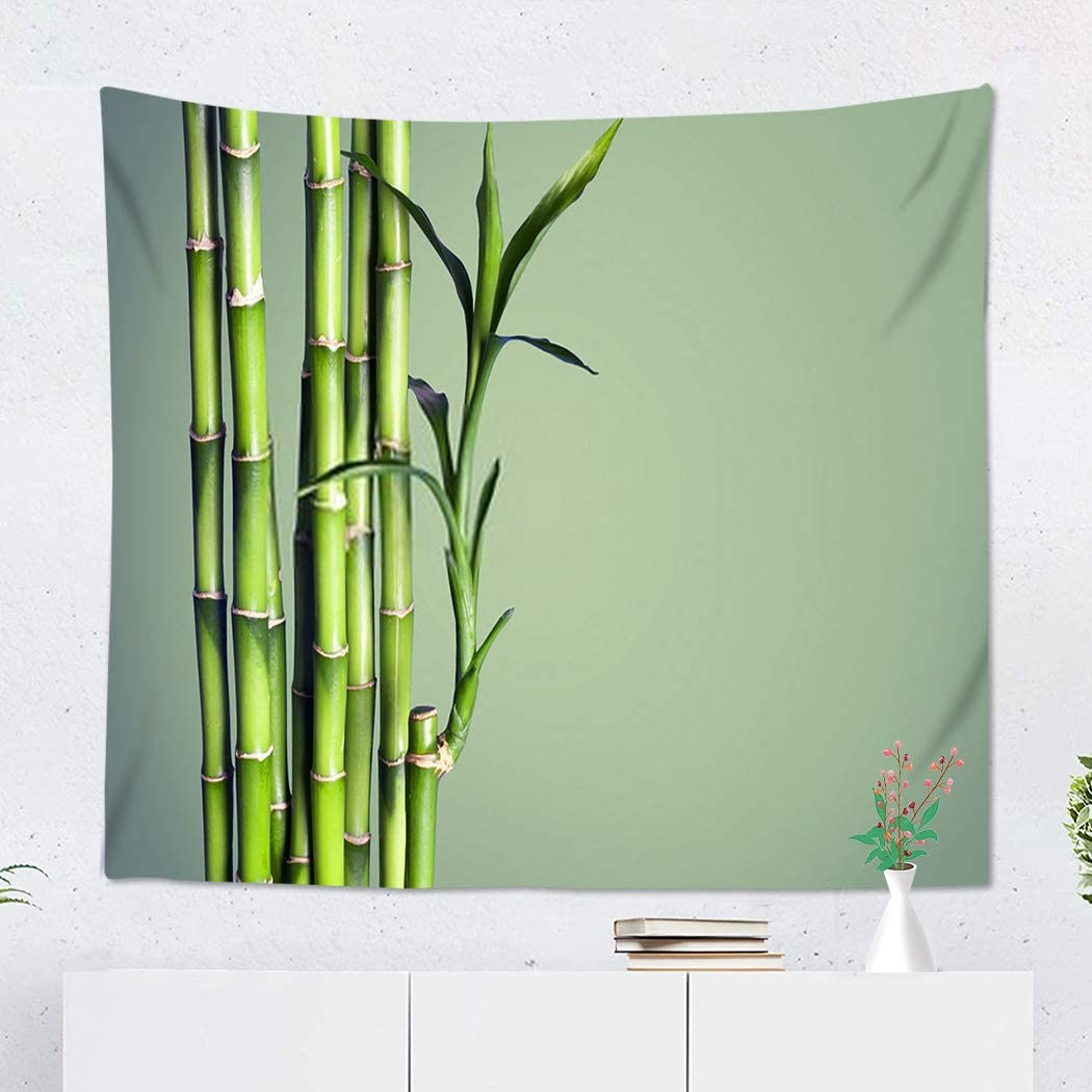 Sgvsdg Tapestry Many Bamboo Stalks Blurred 50x60 Inch Wide Wall Hanging Polyester Dorm Art Bedrooms Living Room Beach Blankets Curtains Design
