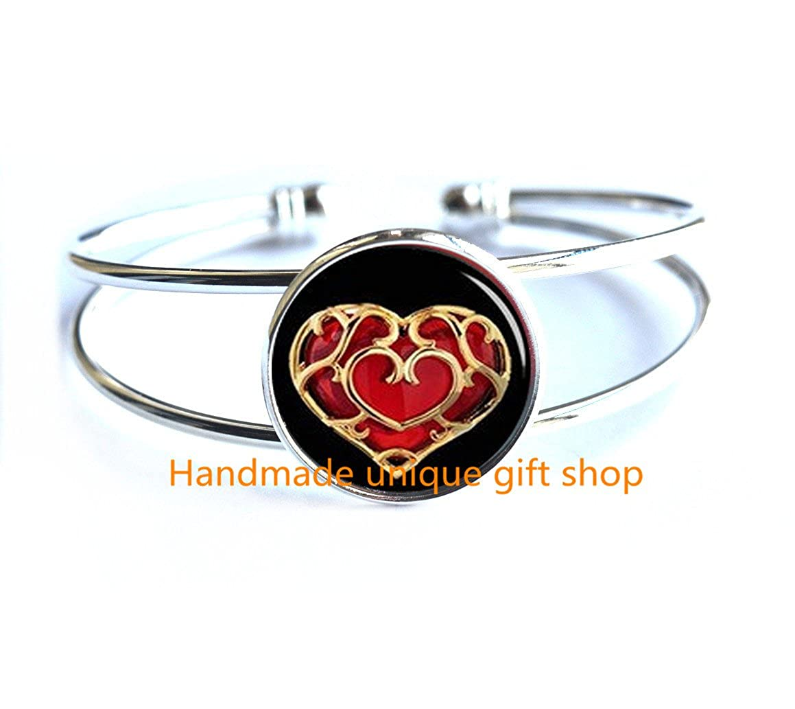 Delicate Bracelet,Fashion Bracelet,heart container Bracelet,gift for her,gift for him,valentines day gift,handmade gift-RC151