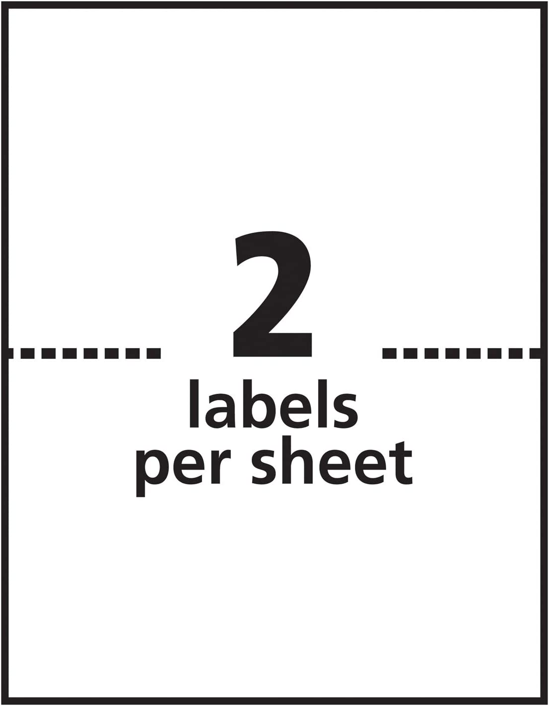 Avery Shipping Address Labels, Inkjet Printers, 100 Labels, Half Sheet Labels, Permanent Adhesive, TrueBlock (2-Pack 8126) : Office Products