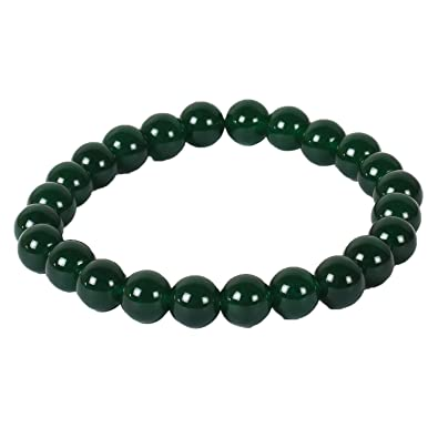 dp com charm stone bracelet fashion by antiquity green women jade jewelry and mm wrist mala for men art sian amazon