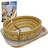 CubicFun National Geographic 3D Rome Colosseum Puzzles Italy Architecture Model Kits Toys for Adults and Children with a Booklet