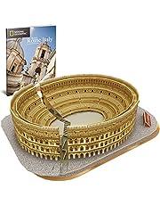 CubicFun Puzzle 3D Colosseo Romano Italia Architettura Kit di Modellismo con Libretto del National Geographic, Buona Souvenir Regalo per Bambini Adulti, 131 Pezzi