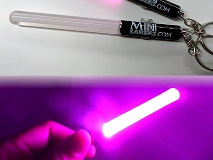 ROSADO Mini luz del partido del llavero del sable de Star ...