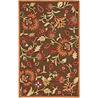 Safavieh Blossom Collection BLM861A Handmade Brown and Multi Premium Wool Area Rug (8 x 10)