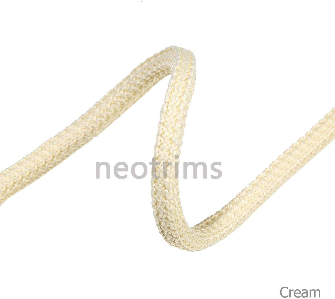 Padded Square i Cord Texture,Hoody Trimming,Sweatshirts,Garments,Apparel Crafts 6mm Cushion Piping 21 Colours Drawstring Hoodie Braided Cord Rope Trim Strong,Slight Stretch,Soft Handle,Neotrims