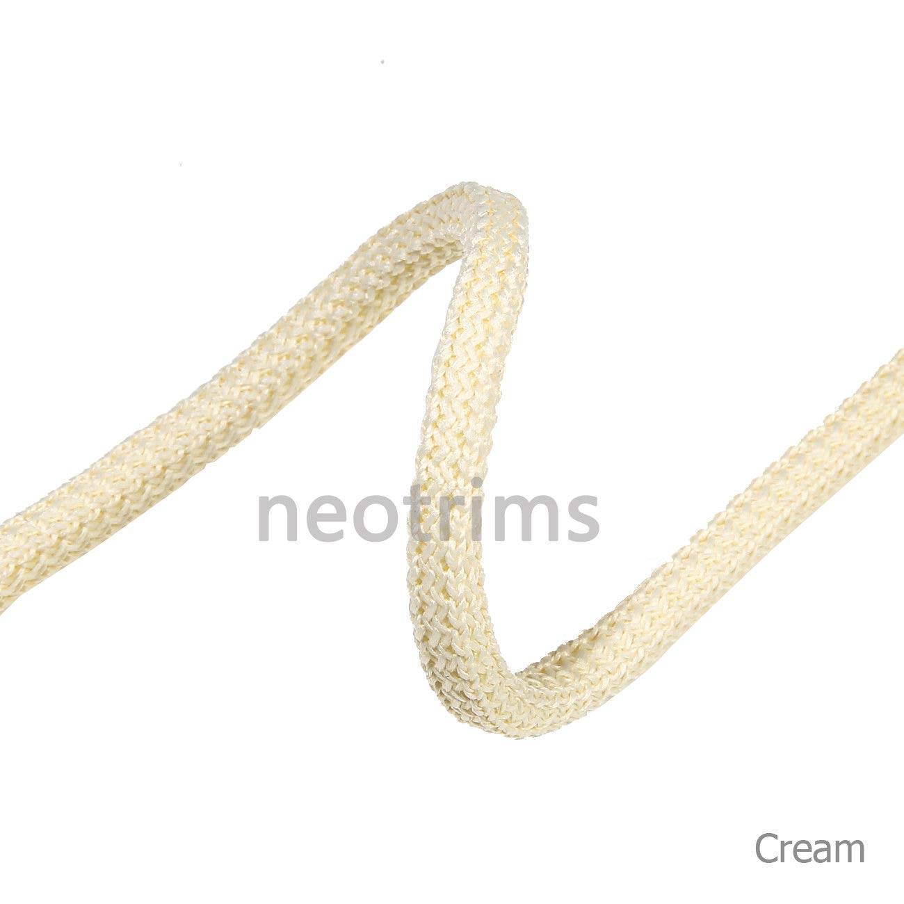 6mm Cushion Piping Drawstring Hoodie Braided Cord Rope Trim 21 Colours Strong,Slight Stretch,Soft Handle,Neotrims Padded Square i Cord Texture,Hoody Trimming,Sweatshirts,Garments,Apparel Crafts