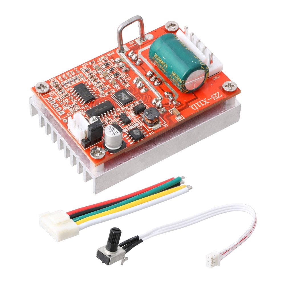 LYWS DC 6V-50V 380W Brushless Motor Controller Normal-Reverse PWM Control BLDC Driver Board w/ Heat Sink by LYWS