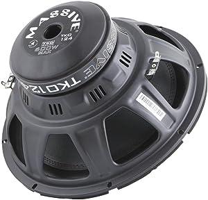 Massive Audio TKO124 TKO Series. 12 Inch, 600 Watt, 8mm Top Plate, Dual 4 Ohm Car Subwoofer. Sold Individually.