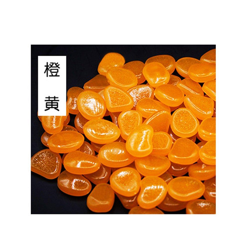 100 Piedras Brillantes para el hogar, pecera, decoración al Aire Libre, jardín, Brillan en la Oscuridad Naranja Naranja Talla única: Amazon.es: Informática