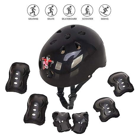 Ventura Bike Skate Scooter Bike Kids Junior Safety Elbow//Knee//Wrist Pads Black