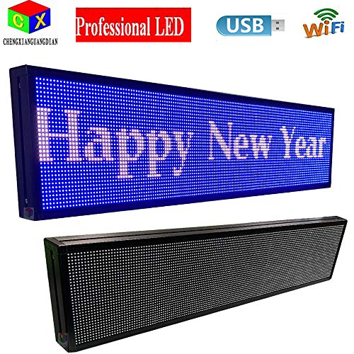 P6 7-Color Indoor led Sign and USB programmable Scrolling Texts & Time LED Display by CXGuangDian (Image #3)