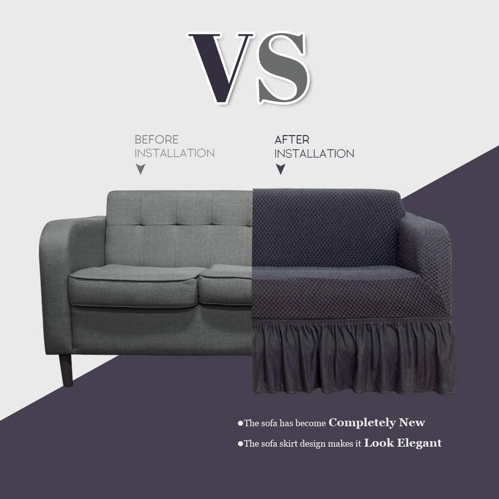 Amazon.com: NICEEC Funda para sofá 1 pieza de dos tonos ...