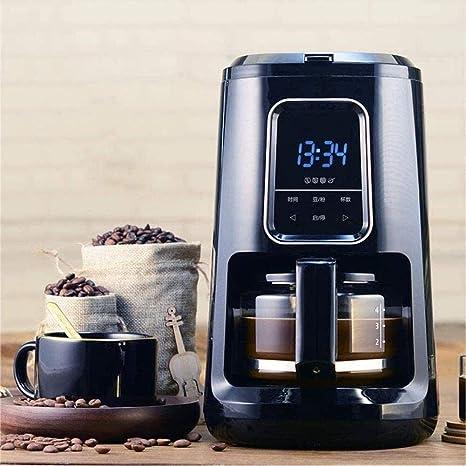 EAHKGmh Mini máquina de café Cafetera automática Pequeño Mini Molinillo de café for Uso doméstico con Pantalla táctil de Pantalla Dual Uso del Grano de café en Polvo máquina de café molido: