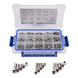 304 Stainless Steel Screw and Nut 515pcs, M3 M4 M5