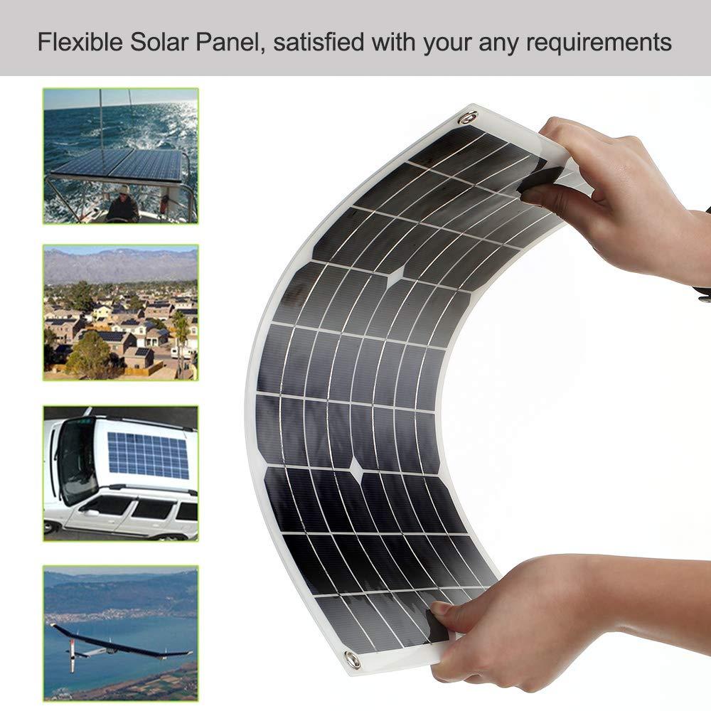 per Camper Galapara 30w 18v Pannello Solare Fotovoltaico casa Giardino Barca 30 Watt 18 Volt Monocristallino Pannelli solari