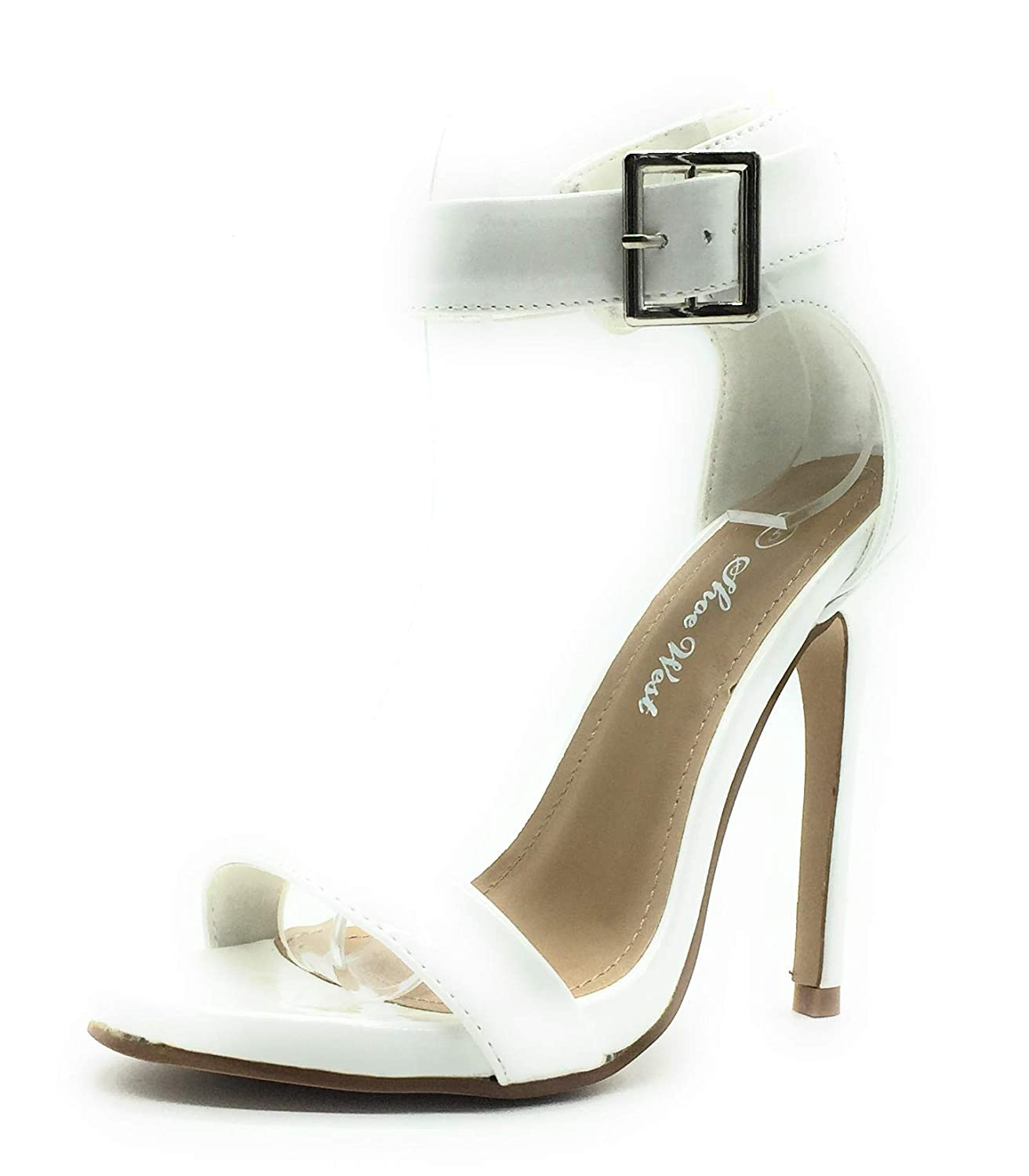 White Pat Sexy Open Toe Pump shoes -Cross Strap Party Dress Platfoms Ankle Strap Dress High Heels Stilettos