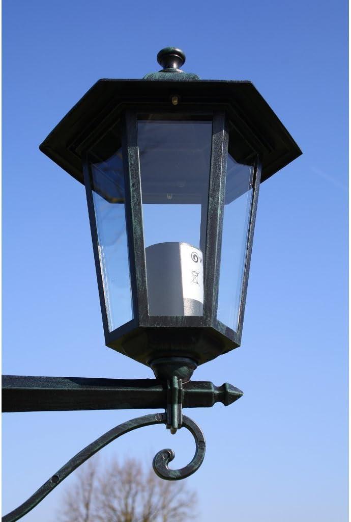 Festnight 60W Gartenlaterne Gartenleuchte Straßenlaterne Außenbeleuchtung mit 3 Laternen Höhe 215 cm E27 Fassung Typ E