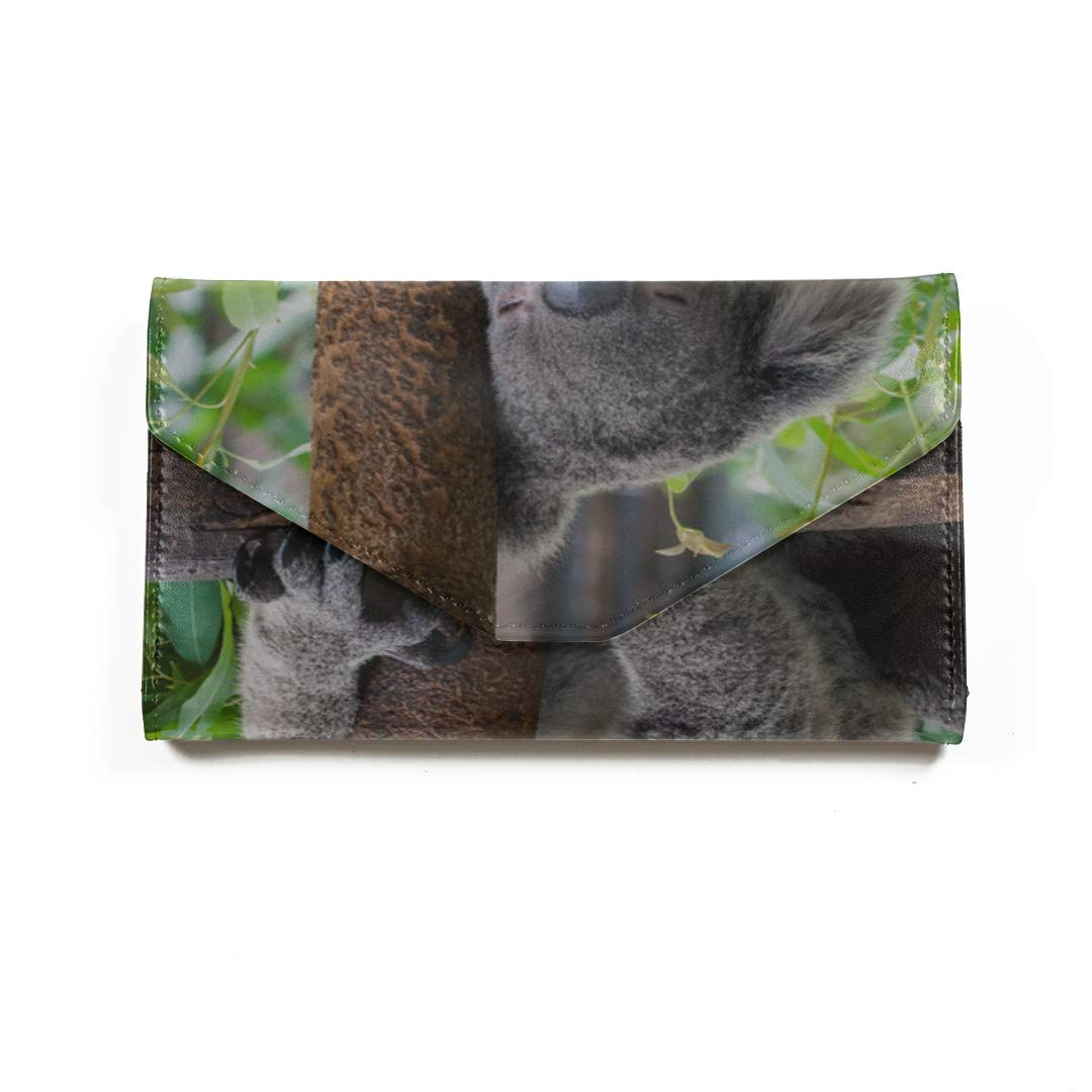 Amazon.com | Lovely Koala On Tree Travel Passport Wallet Tri ...