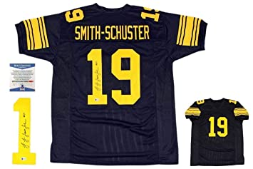 finest selection 53b81 bb26b Autographed JuJu Smith-Schuster Jersey - Beckett Throwback ...