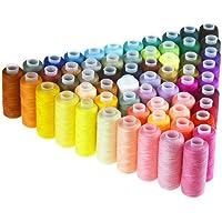 Bobinas de hilo de coser poliéster, de Candora®, multiusos, para coser a mano y máquina, 60 unidades de 229 m cada una