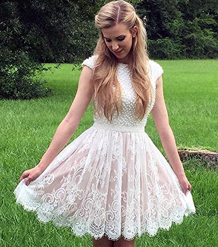 Graduation Length Dresses Party Homecoming Gown Picture Beaded Pearls Color TBGirl Lace Knee S0qFHwwC