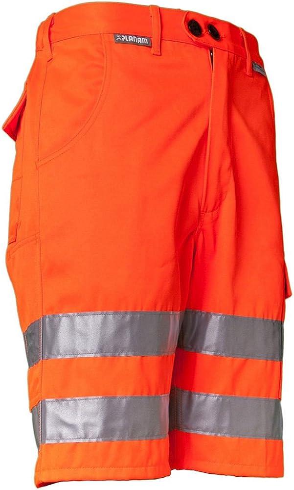 Planam Warnschutz Shorts Arbeitshose
