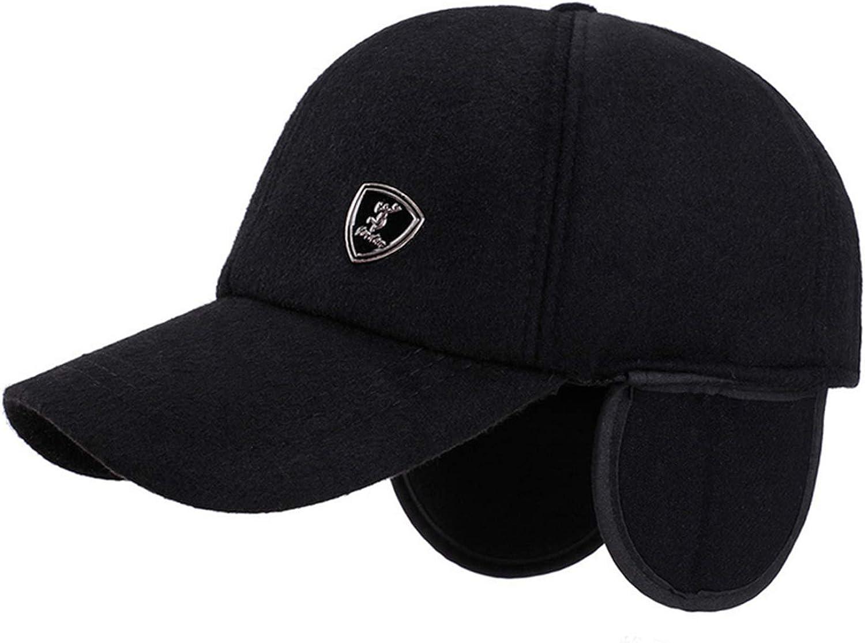 Sivane Winter Baseball Cap Men Hat with Earflaps para Hombre Solid Trucker Cap Homme Winter Caps