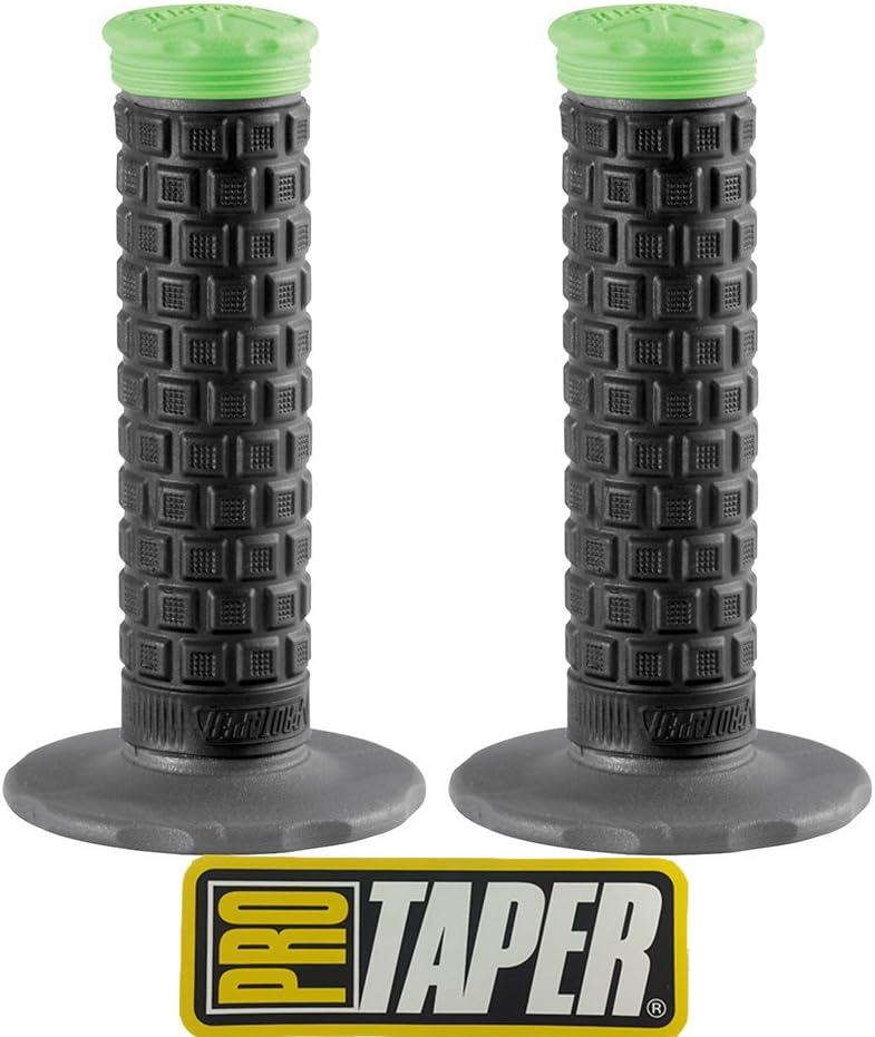 Pro Taper Pillow Top Lite MX Handlebar Grips Black//Green With Pro Taper Sticker