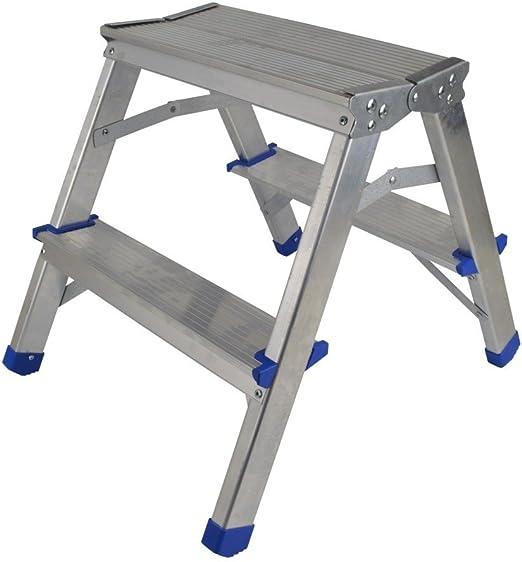 Aluminio Doble Niveles Escalera 2 niveles 40 cm plataforma Altura multiusos Escalera escalera multifunción: Amazon.es: Hogar