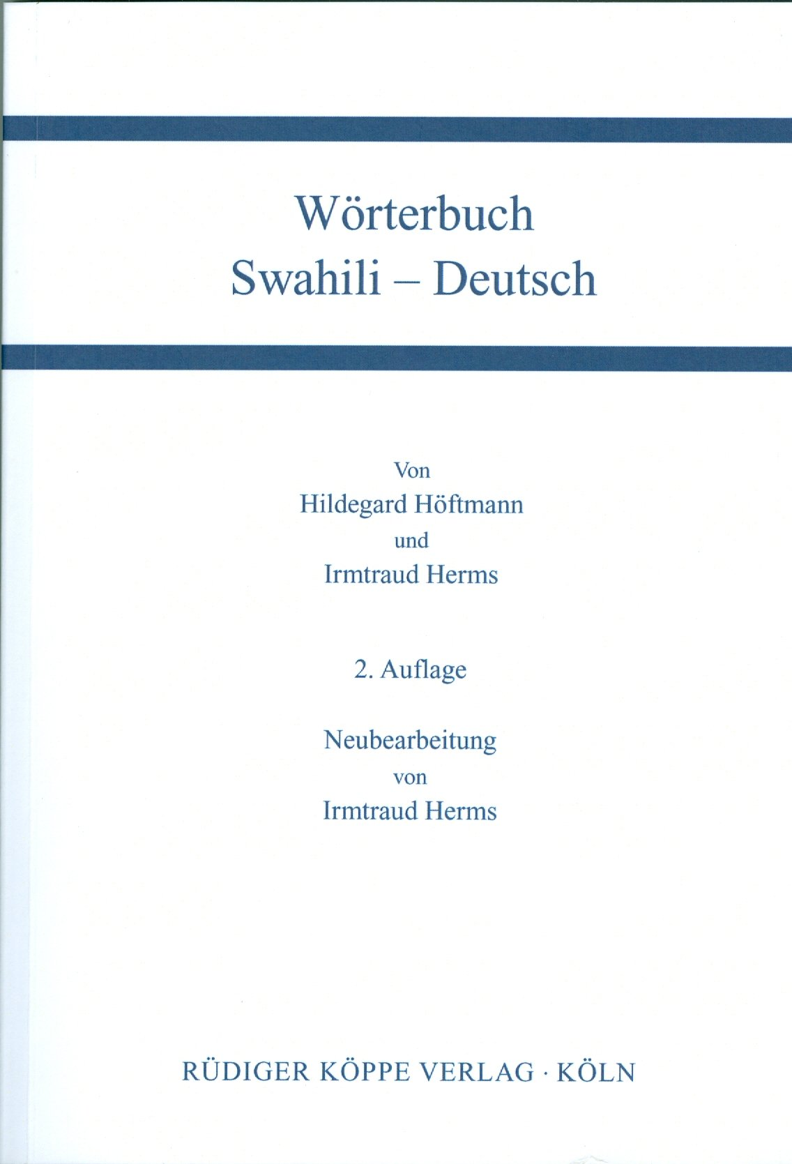 Wörterbuch Swahili Deutsch   Deutsch Swahili  Zwei Teilbände