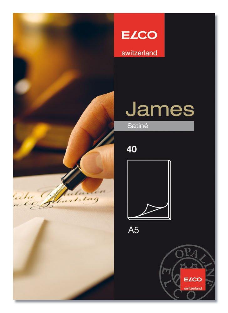 100 g Elco 71712.10 James Satine Schreibblock A5 wei/ß unliniert