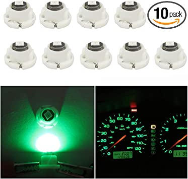 cciyu T5//T4.7 Neo Wedge LED Heater HVAC Climate Control Light Bulbs Replacement fit for 2001-2012 Dodge Ram 5500 4500 3500 Van 3500 2500 1500 10 Pack Green
