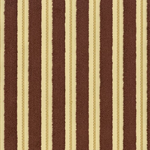 Conrad Stripe - Conrad Terra Brown Brown Stripe Woven Pile Upholstery Fabric by the yard