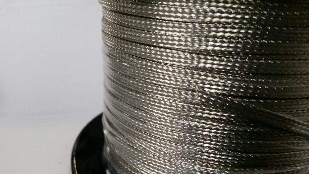 """15 Ft/' Flat Braided Tinned Copper Wire 3//16/"""" Wide Ground Strap USA"""