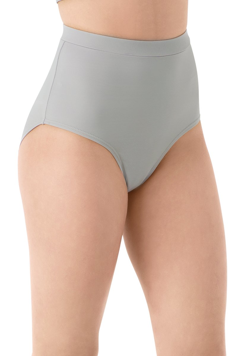 Balera Briefs Girls for Dance Womens Trunks Natural Rise Waist Bloomers Soft Gray Adult Large by Balera