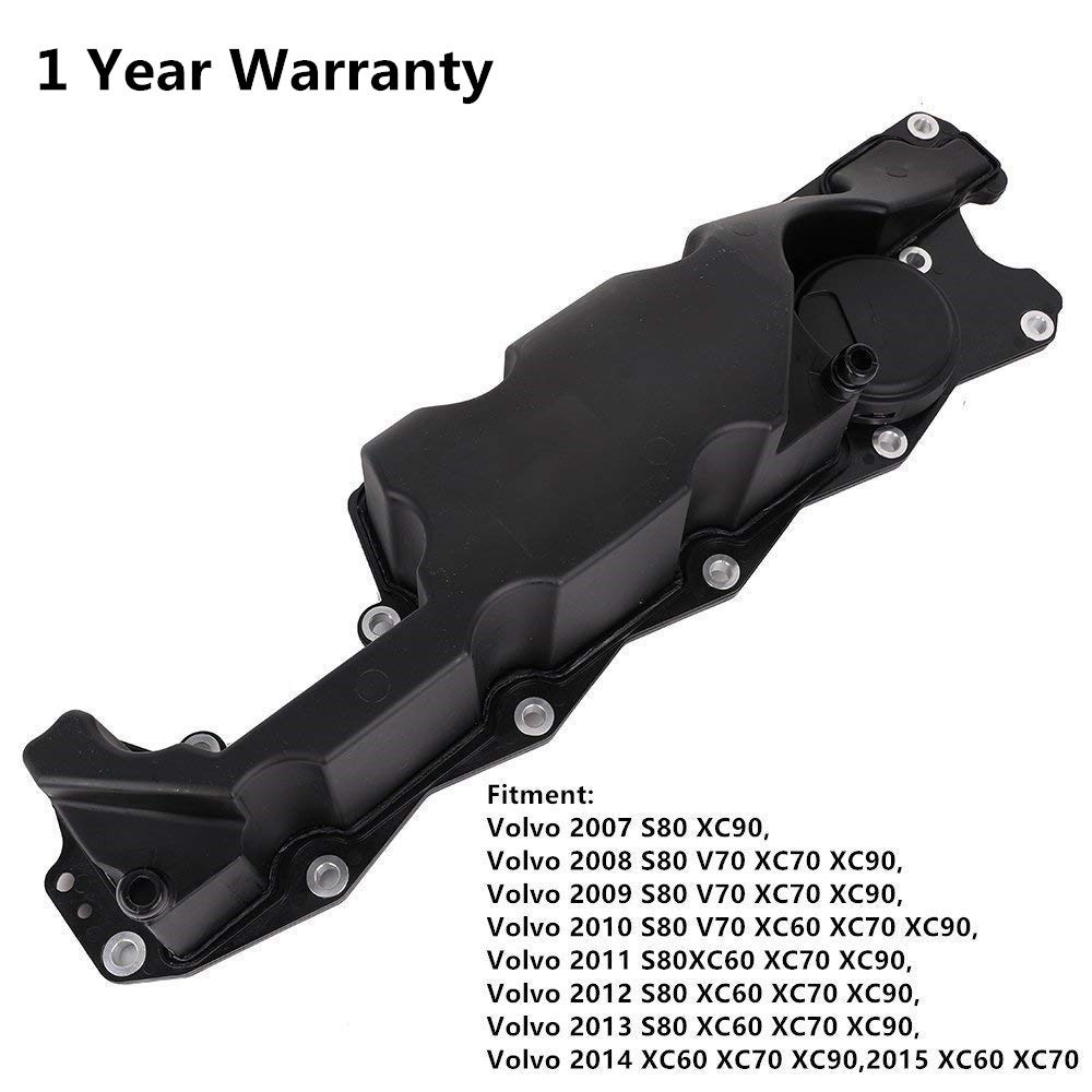 31319642 Engine Valve Cover Oil Trap with Gasket for Volvo 2007 2008 2009 2010 2011 2012 2013 2014 2015 XC60 XC70 XC90 S80 V70 (1 year Warranty)