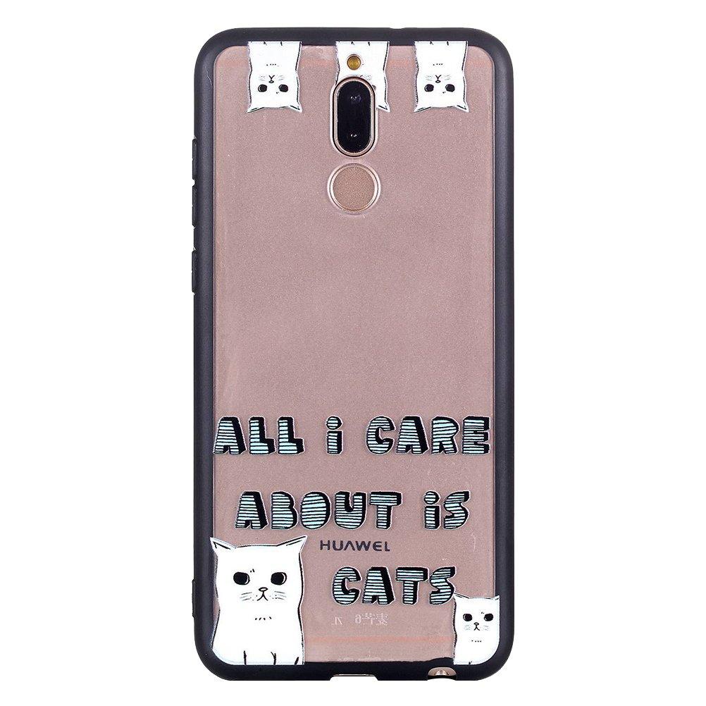 UKCOCO Huawei Mate 10 Lite Housse TPU Doux Absorption des chocs Scratch Résistant Slim Housse de protection pour Huawei Mate 10 Lite