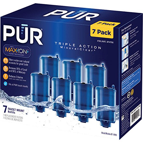 - 3- Stage Faucet Mount Filters 7 Pack. With Max- Ion Filter Technology