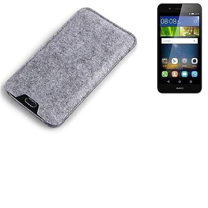 K-S-Trade Filz Schutz Hülle für Huawei GR3 Schutzhülle Filztasche Filz Tasche Case Sleeve Handyhülle Filzhülle grau