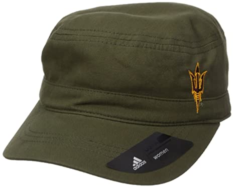 adidas NCAA Arizona State Sun Devils Adult Women Army Green Military Hat ea4bb52fa77