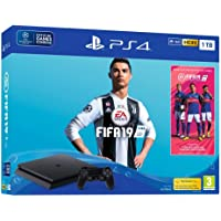 PS4 Slim 1 To F - noir + FIFA 19 + PS Plus 14 Jours (digital)