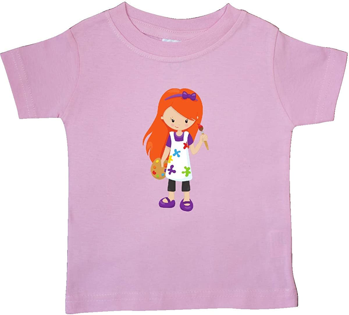 Paint Artist Baby T-Shirt inktastic Cute Girl Orange Hair Painter