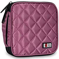 32 Capacity CD / DVD Wallet, 230D Space Twill Cover, Various Colors - Purple