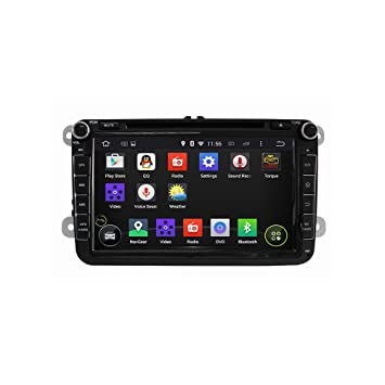 Android 5.1.1 Lollipop Coche estéreo Radio GPS Navegación DVD Player para VW Jetta,