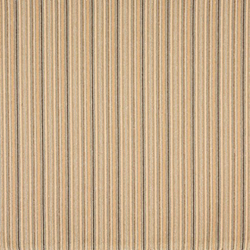 Railroaded Stripe - F476 Navy Blue and Beige Thin Stripe Woven Upholstery Fabric by The Yard