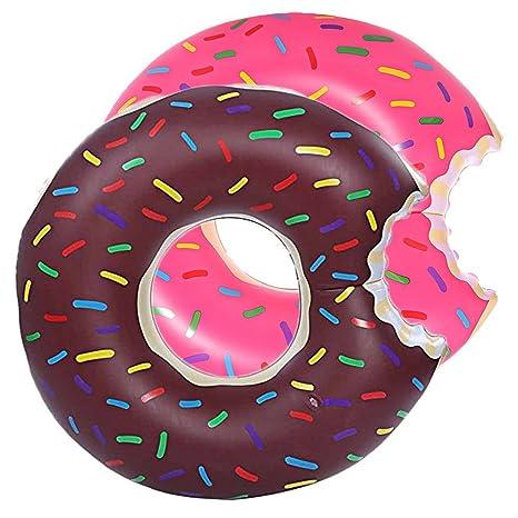 DMAR Donut Piscina Inflable flotadores Anillos de baño Tubos de diámetro único 55cm 83cm 120cm para