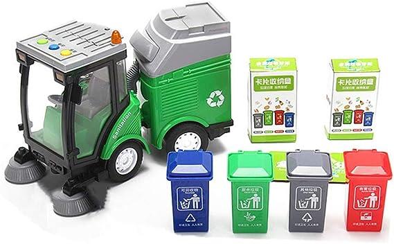 Garbage Sorting Toy Spazzare Auto Camion Giocattolo Con 4 Bidoni Della Spazzatura + 108 Carta D'identità Per Consapevolezza Ambientale